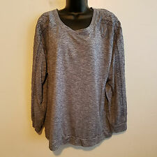 Como Vintage Size 3X Sweatshirt Pullover Long sleeve blue shirt top Womens Plus