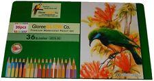36pcs Premium Watercolor Pencil Set in Keepsake Metal Case, Non-Toxic