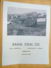 Old Butler Unionville Pa. Eagal Coal Co. Advertising Poster