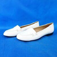 Robert Clergerie Damen Schuhe Slipper Loafer Ballerinas Leder Weiß Np 229 Neu