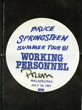 Bruce Springsteen - BS pass working personnel staff July 19,1981 -Philly - blue