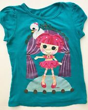LALALOOPSY Kids Girls Tee  T-Shirt Top Size Large L 6X Green Short Sleeve Cotton