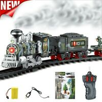 Remote Control Conveyance Train Toys Electric Steam Smoke RC Train Set Model Toy