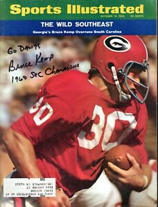Bruce Kemp Autographed October 13, 1969 Issue Sports Illustrated W/ Go Dawgs