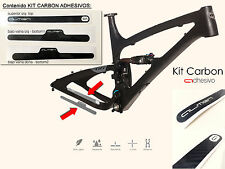 MTB Bike Adhesive CARBON Protector Cross bmx Cover Cycling Bicycle Frame Chain