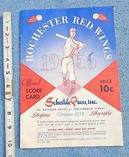 1956 rochester red wings BASEBALL PROGRAM score card new york ADVERTISING coke