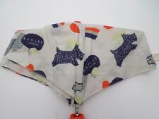 RADLEY-Dash Dog-Crema & Navy & Orange Telescopico Ombrello RADLEY Cani Stampa