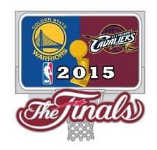 Official 2015 NBA Finals Pin Golden State Warriors vs Cleveland Cavaliers