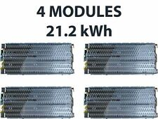 4 Tesla Model S battery modules, 24V, 21.2kWh, 1776 Panasonic 18650 cells