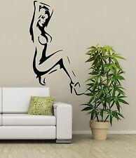 Sexy Dama Desnuda Silueta De Vinilo Grande Arte pegatinas de pared Gratis Envío! 35 Colores!