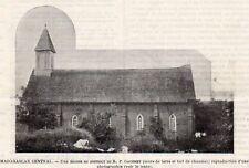 EGLISE DISTRICT R.P GAUCHEY CHURCH MADAGASCAR IMAGE 1902 PRINT
