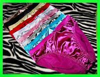 New! 6 Glossy SILKY liquid SATIN Sissy Classic CD BIKINI Panties S/ M/ L/ XL