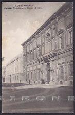 ALESSANDRIA CITTÀ 126 PREFETTURA - BANCA d'ITALIA Cartolina viaggiata 1911