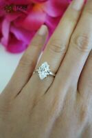 1.00ct Marquise Cut Diamond Solitaire Engagement Women's Ring 14k White Gold