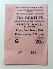Beatles November 1964 Belfast Concert Ticket Original Rare