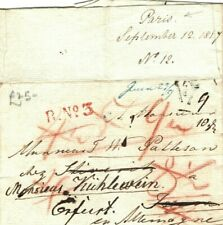 FRANCE Cover Paris ENTIRE LETTER Germany English Contents 1817{samwells} LS167