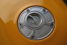 Ducati Monster 620 695 S4R 748 Quick Release Quarter Turn Gas Fuel Cap Silver