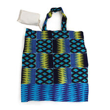 African Kente Print Tote Travel Bag with pouch Africa apkt3