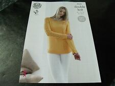 King Cole Double Knit Sweater and Cardigan Pattern 4835