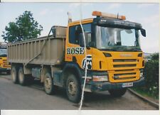 Photo Scania Tipper,  Rose Plant Hire,  Peterbro'