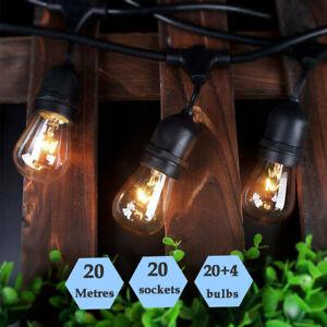 20 Metres Outdoor S14 String Lights Waterproof Warm Glow Pergola Patio Lighting