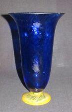Kosta Boda Glas Vase Blau/Gelb