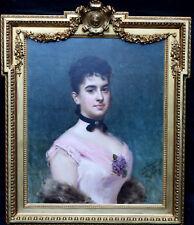 RAIMUNDO DE MADRAZO Y GARRETA 1841-1920 PORTRAIT OIL PAINTING ART NINA FAGNANI