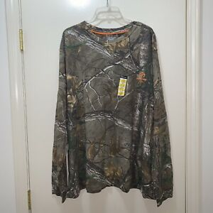 Realtree Size 3X (54-56) Mens Long Sleeve Shirt Hunting Outdoor Camouflage