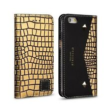 WETHERBY Genuine  Leather case Premium Black Square GOLD for iPhone 6/6s