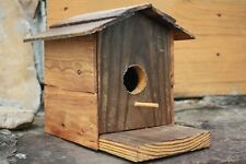 "Collectible Hand Made One of a Kind Rustic 7-1/2"" Tall Wooden Birdhouse"