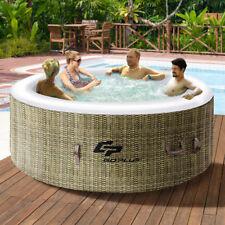 Whirlpool aufblasbar Massage Spa Outdoor Indoor Pool 4 Personen mit Heizung