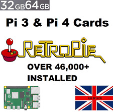 RetroPie Retro Gaming *SD Card Only* For Raspberry Pi 3/4  46,000+ Games In HD