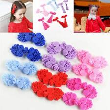 12pcs Chinese Knot Frog Buttons Embellishment for DIY Girls Hair Accessories