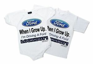 "FORD ""When I Grow Up..."" Kids & Toddler T-Shirt & Onesie TOO CUTE! Free Shipping"