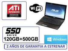 "ORDENADOR PORTATIL ASUS 15"" 120 ssd + 500Gb ATI R2 WIFI WINDOWS + OFFICE"