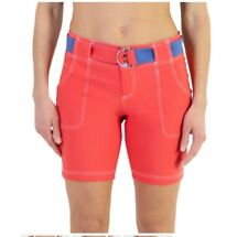 NEW JoFit Women's Belted Golf Shorts - Size 2 - Tomato Red NWT