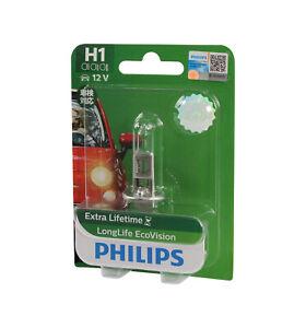 Genuine PHILIPS Eco Vision Headlight Fog Light Globe H1 12V 55W - Single Pack