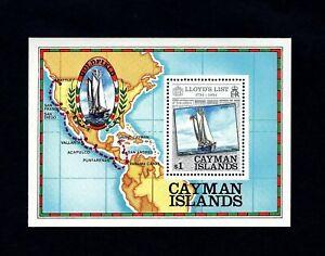 CAYMAN IS - 1984 - LLOYD'S LIST - SHIP - MAP - 250th ANNIVERSARY - MINT S/SHEET!