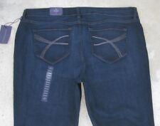 NYDJ Lift Tuck Jeans High Waist Straight Leg Crystal Pocs USA Sz 22 W EUR 52 NEW