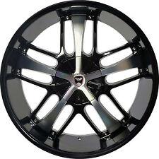 4 GWG Wheels 20 inch Black Machined SAVANTI Rims 5x115 ET35 CB74.1