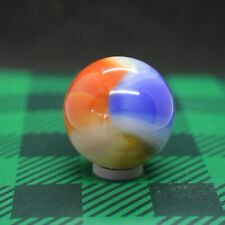 "Akro Agate Shooter 7/8"" Multi-Color Patch * Vintage Marbles"