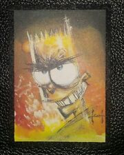 RARE COLLECTABLE THE SIMPSONS ARTY ART CARD A2 SAM KEITH SKYBOX 1:180 PACKETS