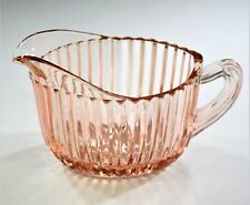 Anchor Hocking Queen Mary Pink Creamer