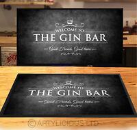Welcome to the Gin Bar runner Black & White Grunge party counter mat Bar mat