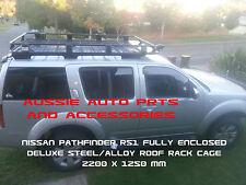 Fully Enclosed Deluxe Steel Roof Rack Cage 2200mm for NISSAN PATHFINDER R51