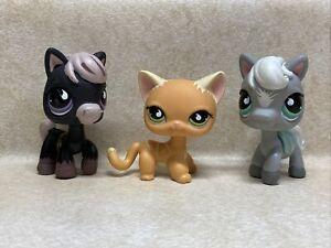 Littlest Pet Shop LPS #525 CAT #523 HORSE #524 HORSE Preowned