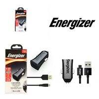 Energizer Micro USB Car Charger 1 Amp USB Port Detachable Micro-USB 1m Cable