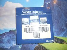 NEW Microsoft Works Suite 2006 DVD Software Word Digital Image Personal Finance