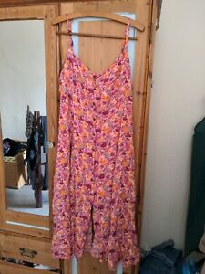 Urban Outfitters Kimchi Blue Bright Floral Sun Dress Size L Large 12 14