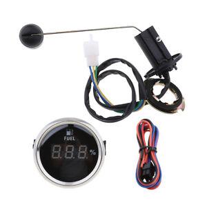 Fuel Level Sensor + Digital Fuel Level Meter Gauge for Marine Boat